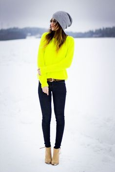 Neon winter style :) plus you'll never get lost!