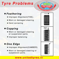 Abnormal Tread Wear, deformed tread blocks or cracking can also be seen within the tread area. This type of wear is usually the result of an unbalanced tyre or wheel alingment. #WheelAlignment #Wheels #UnbalancedTyre  #Tyre #Ahmedabad