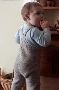 Free knitting pattern for On the Go-veralls toddler overalls