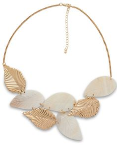 via @Roposo Leaf Necklace, Tassel Necklace, Princess Style, Gold Leaf, Fashion Necklace, Shells, Chic, Party, Stuff To Buy