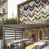 screen facade - padarie cafe in porto alegre, brazil