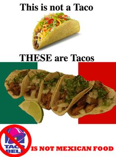 """In Mexico, Taco Bell had to change the name of their """"taco"""" to something else. Find out what by clicking the image."""