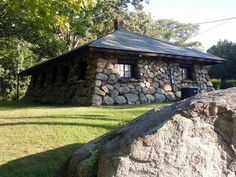 Stone cabin by Zadrabug, via Flickr