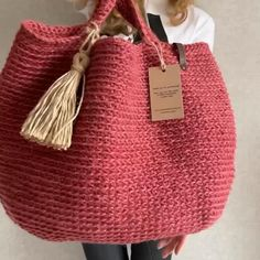 Crochet Square Blanket, Crochet Round, Crochet Tote, Crochet Handbags, Jute Shopping Bags, Extra Large Tote Bags, Jute Tote Bags, Diy Purse, Boho Bags