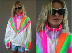 80s style neon windbreaker... so wishing my mom didn't get rid of all of her old ones they were fabulous!!