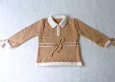 Vintage knit dress 6 to 12 months 70s Light by LazerBabyVintage, $13.00