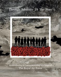 'Through Adversity To The Stars' remembrance art by Jacqueline Hurley Celebrating and Commemorating 100 Years of The Royal Air Force The War Poppy Collection Per Ardua Ad Astra RAF Remembrance Day Art, Armistice Day, Support Our Troops, Lest We Forget, Royal Air Force, Wwi, Contemporary Paintings, Hurley, Memorial Day