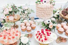 Bridal Shower Bliss - dessert table - bridal cake