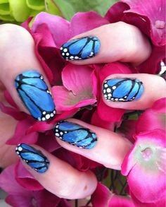 Monarch Erfly Nail Art Using Fnug Holographic Polish Nails Pinterest And