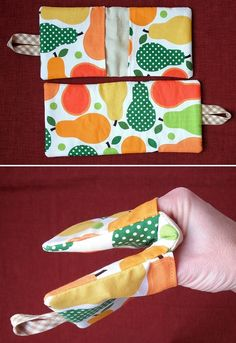 DIY: handy pot holder....No, no, no it's already been thought up, get an oven mitt, or make one, or whatever...