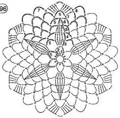 klikni pro další - Her Crochet Crochet Snowflake Pattern, Crochet Doily Diagram, Crochet Motif Patterns, Crochet Snowflakes, Crochet Chart, Crochet Christmas Ornaments, Christmas Crochet Patterns, Christmas Baubles, Crochet Circles