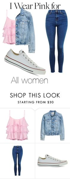 """Untitled #351"" by emilymarie4171 ❤ liked on Polyvore featuring Pierre Balmain, Topshop, Converse and IWearPinkFor"