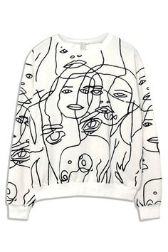 White Face Print Sweatshirt