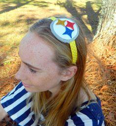 Pittsburgh Steelers glitter headband