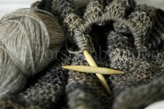 knitting...woods of winter...browns...gray...soft subtle pinks~