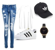 """Untitled #15"" by kyle-kisses on Polyvore featuring Boohoo, adidas and Olivia Burton"