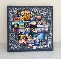 Word Art Photo Collage:  A new unique design  by RedCanvas LTD. Designed to be the ultimate personalised birthday gift at an affordable price. Introductory low price available now.