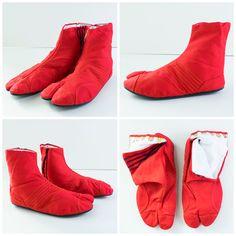 Luscious Red Japonista Sole Jika Tabi Shoes - Japan Lover Me Store Tabi  Shoes 0edf065e2
