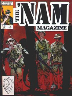 The 'Nam Magazine #3 October 1988 from a #1 - 5 run, NM-NM/M, 2 stories from the Marvel comic book series reprinted in each issue with extra material, Michael Golden covers and artwork in all. All 5 for $22