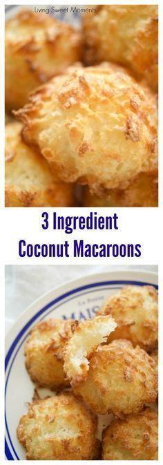 3 ingredient coconut macaroons cookies and gluten-free