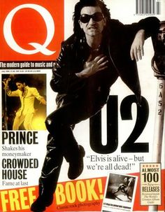 Bono on the cover of Q, July 1992