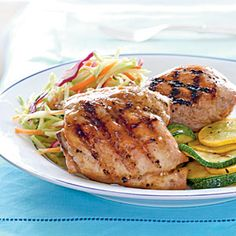 Apricot-Glazed Grilled Chicken - MyPlate-Inspired Chicken  - Cooking Light
