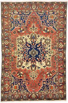Red Classic Bakhtiar Area Rug