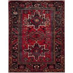 Safavieh Vintage Hamadan Caucasian Red/Multi Indoor Lodge Area Rug (Common: 8 X 10; Actual: 8-Ft W X 10-Ft L) Vth211a-8