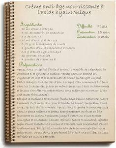 Recette de crème de nuit antirides à l'acide hyaluronique et argan