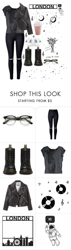 """In the darkness"" by thaisa1989 ❤ liked on Polyvore featuring Dr. Martens, Iron Fist, Acne Studios and Dot & Bo"