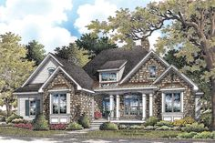 Craftsman Style House Plan - 3 Beds 2 Baths 2046 Sq/Ft Plan #929-6 Exterior - Front Elevation - Houseplans.com