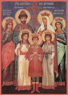 † Holy Royal Martyrs of Russia: Tsar Nicholas II, Tsaritsa Alexandra, Crown Prince Alexei, and Grand duchesses Olga, Tatiana, Maria, and Anastasia, and those martyred with them (1918). July 4