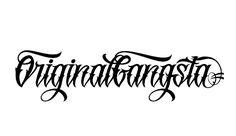 10 Original Gangsta Font Lettering Images Gangster