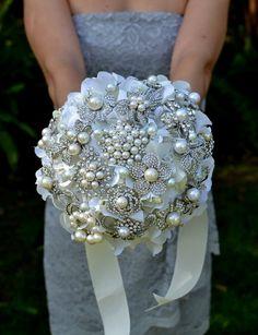 Deposit on a custom heirloom pearl posy  made to order by Noaki, $165.00