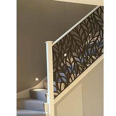 modern stair railing ideas iron safety grill design for staircase Modern Stair Railing, Staircase Railings, Modern Stairs, Railing Design, Banisters, Staircase Design, Banister Ideas, Metal Stairs, Stair Case Railing Ideas