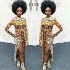 Its African inspired. African Fashion Ankara, Ghanaian Fashion, African Inspired Fashion, African Print Fashion, Ethnic Fashion, African Prints, African Dresses For Women, African Attire, African Wear