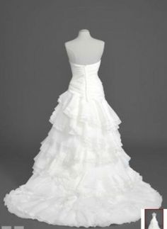 Organza Tiered Ball Gown With Ruffles Wedding Dress