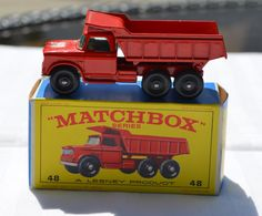 1960's Lesney Matchbox No 48 Dodge Dumper Truck with Original Box  https://www.etsy.com/shop/WillsAttic