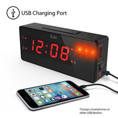 Alarm Clock with Super Vibrating Wired Bed Shaker, 120 dB Panic Sound, and Built-In 3 LED Alert Light