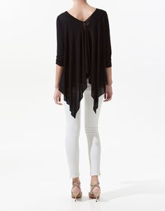 SWEATER WITH POINTED BACK, Zara