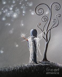 Diamond Fairy By Shawna Erback Painting  - Gray