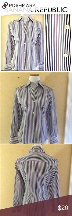Fitted Banana Republic button down size sm Fitted Banana Republic button down size sm Banana Republic Tops Button Down Shirts