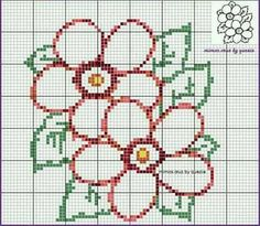 Patchwork Quilt Patterns, Crochet Stitches Patterns, Crochet Chart, Stitch Patterns, Loom Patterns, Mini Cross Stitch, Cross Stitch Flowers, Cross Stitching, Cross Stitch Embroidery