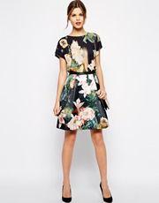 Ted Baker Skirt in Opulent Bloom Print