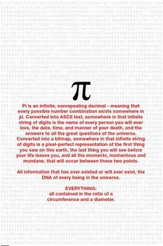 Few words about number PI
