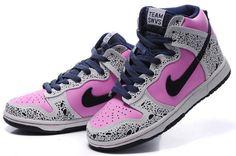 Imagem de Nike Dunks, pink shoes, and nike shoes