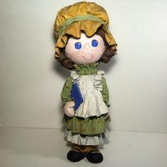 Holly-Hobbby-Paper-Mache-Doll-Schoolgirl-Little-House-Folk-Art-Craft-Large-18-034