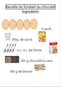 Recette Fondant Au Chocolat Gateau Desserts Cooking Recipes Et