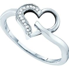 1/20CT-Diamond HEART RING