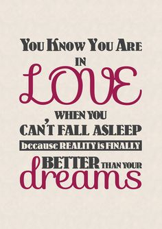 Who would make your reality better than your #dreams? #love